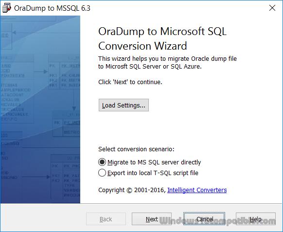 OraDump-to-MSSQL 5 5 Free download